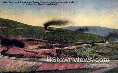 Denver & Rio Grande Trains - Wasatch Range, Utah UT Postcard