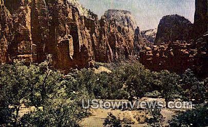 Temple of Sinawava - Zion National Park, Utah UT Postcard