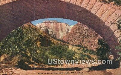 West Temple - Zion National Park, Utah UT Postcard