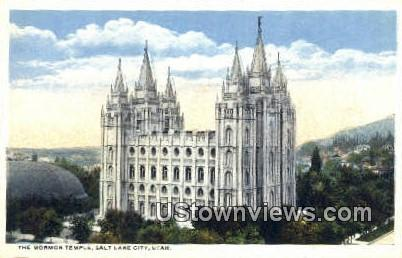Mormon Temple - Salt Lake City, Utah UT Postcard