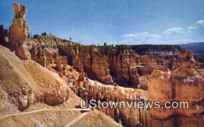Switchbacks on Navajo Trail - Bryce Canyon National Park, Utah UT Postcard