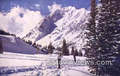 Little Cottonwood Canyon, Skiing - Alta, Utah UT Postcard
