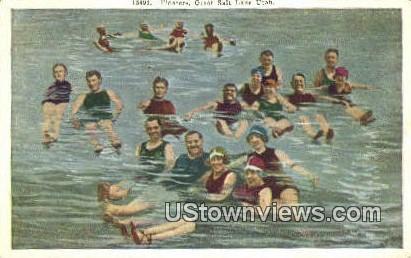 Floaters - Great Salt Lake, Utah UT Postcard