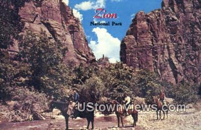 Zion National Park, Utah, UT, Postcard