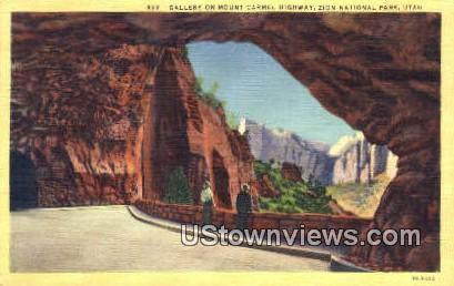 Mount Carmel Highway - Zion National Park, Utah UT Postcard