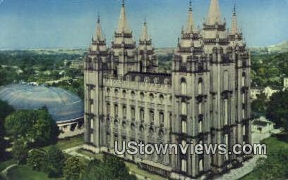Salt Lake City Temple - Utah UT Postcard