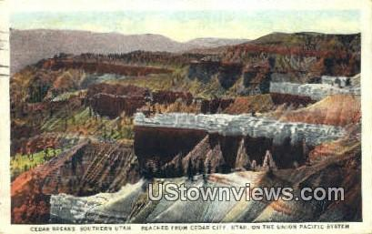 Union Pacific System - Cedar City, Utah UT Postcard