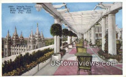 Temple Towers, Hotel Utah - Salt Lake City Postcard