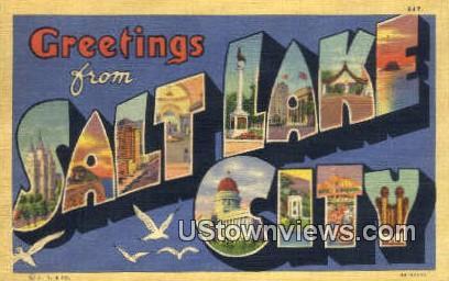 Greetings from - Salt Lake City, Utah UT Postcard