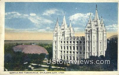 Temple & Tabernacle - Salt Lake City, Utah UT Postcard