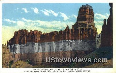 The Cathedral, Bryce Canyon - Cedar City, Utah UT Postcard
