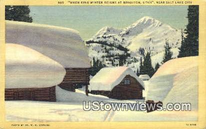 Brighton - Salt Lake City, Utah UT Postcard
