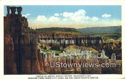 Temple of Osiris, Bryce Canyon - Cedar City, Utah UT Postcard
