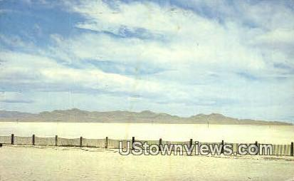 Bonneville Salt Flats - Salt Lake City, Utah UT Postcard