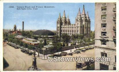 Temple Block, Pioneer Monument - Salt Lake City, Utah UT Postcard