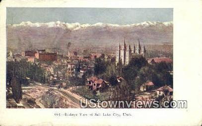 Salt Lake City, Utah, UT, Postcard