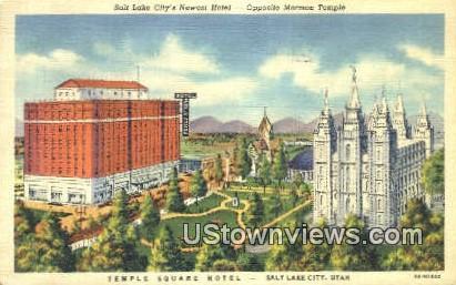 Temple Square Hotel - Salt Lake City, Utah UT Postcard