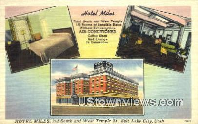 Hotel Miles - Salt Lake City, Utah UT Postcard