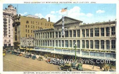 Zion's Co. Operative Mercantile - Salt Lake City, Utah UT Postcard