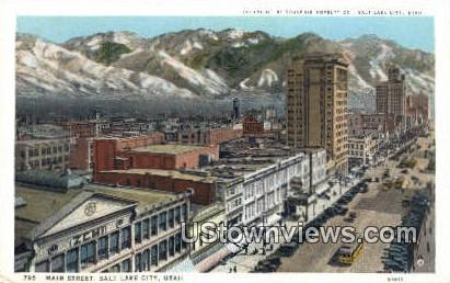 Main Street - Salt Lake City, Utah UT Postcard