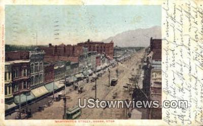Washington Street - Ogden, Utah UT Postcard
