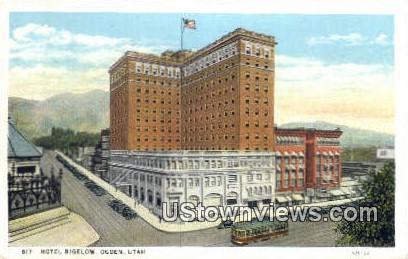 Hotel Bigelow - Ogden, Utah UT Postcard