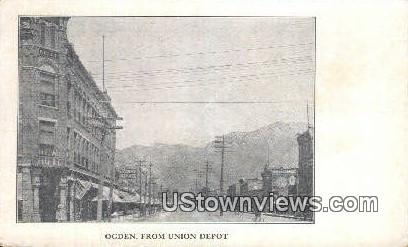 Union Depot - Ogden, Utah UT Postcard