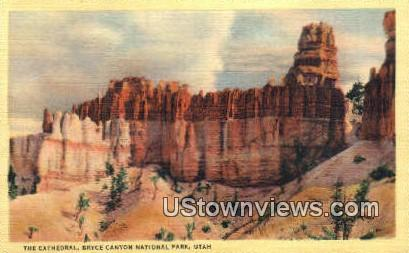The Cathedral, Bryce Canyon - Bryce Canyon National Park, Utah UT Postcard
