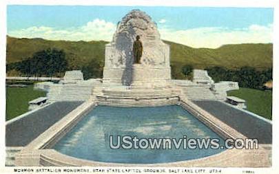 Mormon Battalion Monument - Salt Lake City, Utah UT Postcard