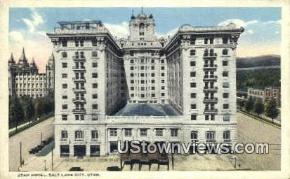 Utah Hotel - Salt Lake City Postcard