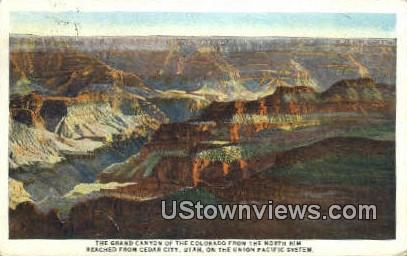 Grand Canyon - Cedar City, Utah UT Postcard