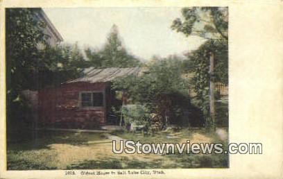 Oldest House in Salt Lake City - Utah UT Postcard