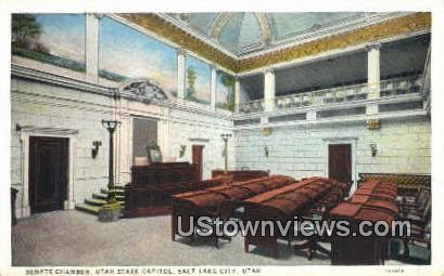 Senate Chamber, Utah State Capitol - Salt Lake City Postcard