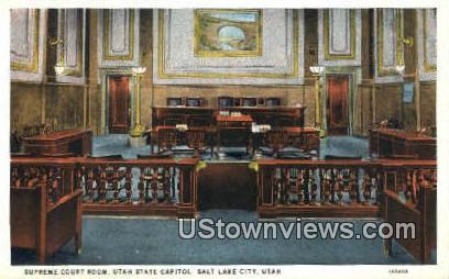 Supreme Court Room - Salt Lake City, Utah UT Postcard
