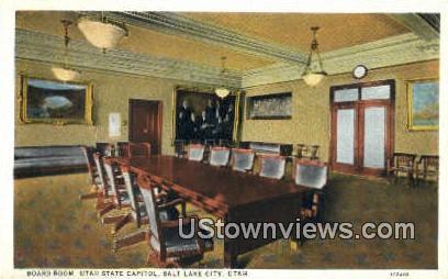 Board Room, Utah State Capitol - Salt Lake City Postcard