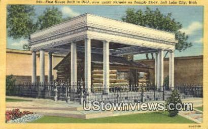 First House, Temple Block - Salt Lake City, Utah UT Postcard