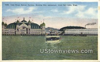 Lake Front, Saltair Pavilion - Great Salt Lake, Utah UT Postcard