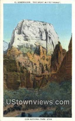 El Gobernador - Zion National Park, Utah UT Postcard