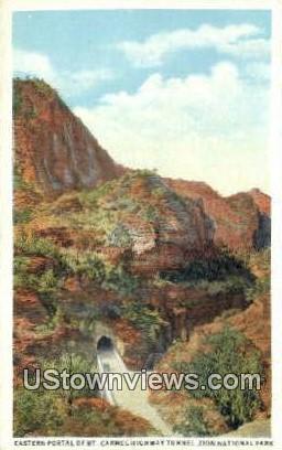 Mt. Carmel Highway Tunnel - Zion National Park, Utah UT Postcard