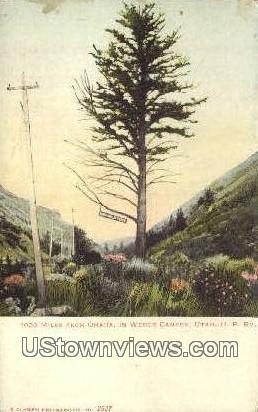 Omaha - Weber Canyon, Utah UT Postcard