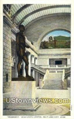 Massasoit, Utah State Capitol - Salt Lake City Postcard