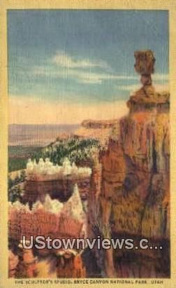 Sculptor's Studio - Bryce Canyon National Park, Utah UT Postcard