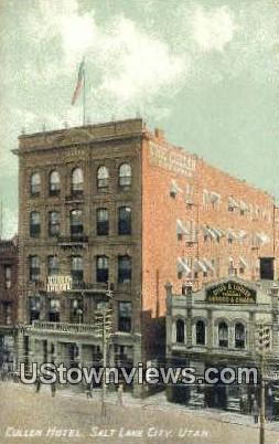 Cullen Hotel - Salt Lake City, Utah UT Postcard