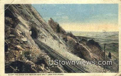 Denver & Salt Lake Railroad - Salt Lake City, Utah UT Postcard