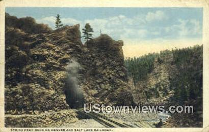 Sphinx Head Rock - Salt Lake City, Utah UT Postcard