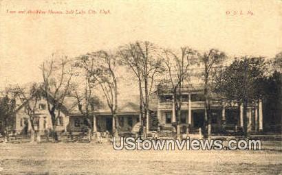 Lion & Bee-Hive Houses - Salt Lake City, Utah UT Postcard