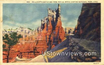 Gulliver's Castle & New Trails - Bryce Canyon National Park, Utah UT Postcard