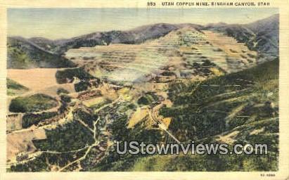 Utah Copper Mine - Bingham Canyon Postcard