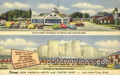 Covey's New America Motel - Salt Lake City, Utah UT Postcard