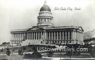State Capitol, Real Photo - Salt Lake City, Utah UT Postcard